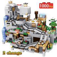 My World Minecraft Cave Building Blocks Compatible Legoingly Minecraft Aminal Alex Action Figures Brick Toys For Children Boys