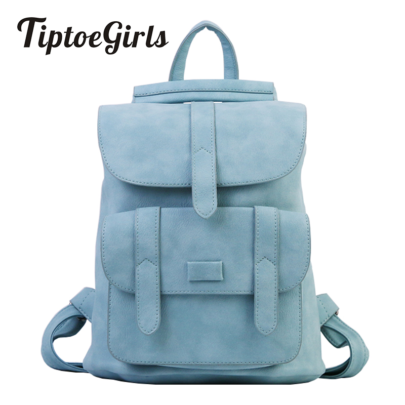 Fashion Backpack Women Preppy School Bags For Teenagers Female Pu Leather Ladies Bags Girls Vintage Solid Top Backpack Mochilas