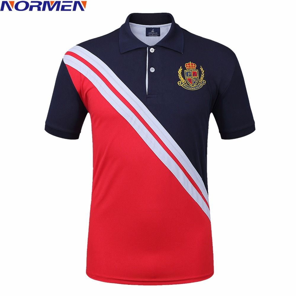 NORMEN Men's Fashion Patchwork   Polo   Shirts Turn Down Collar Short Sleeve Striped Casual Tops Streetwear   Polos   Man