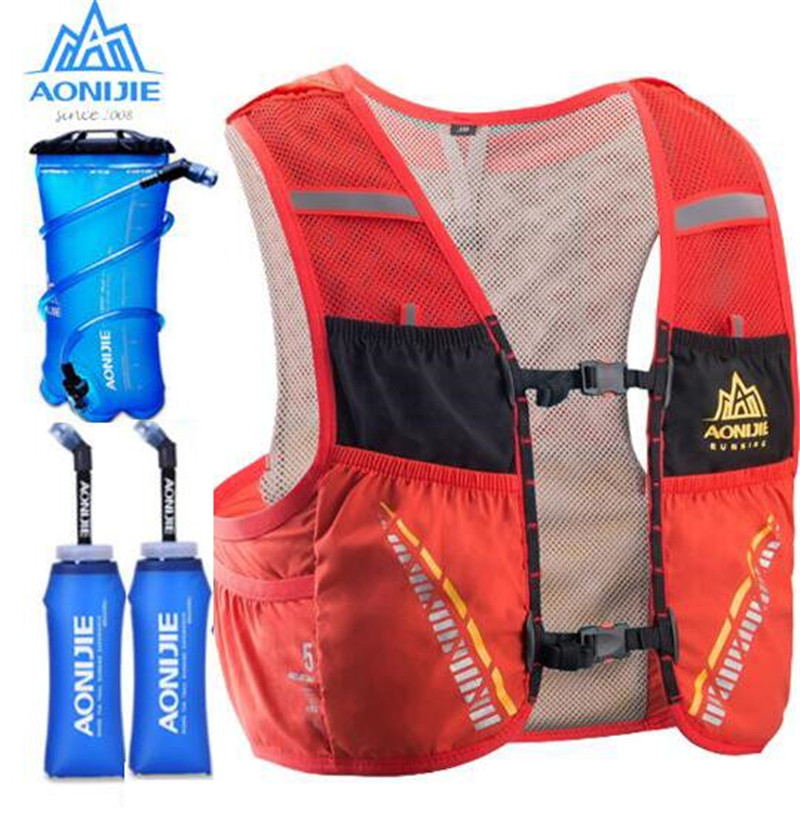 AONIJIE 5L Sports Bag Outdoor Hiking Running Hydration Ultralight  Backpack Breathable Vest Pack Water Bottle Bladder