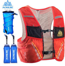 цена на AONIJIE 5L Sports Bag Outdoor Hiking Running Hydration Ultralight  Backpack Breathable Vest Pack Water Bottle Bladder