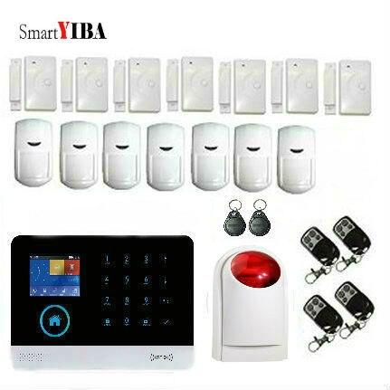 SmartYIBA wireless WIFI GSM Alarm System GPRS Security Burglar Alarm Apps Control Door Window Sensor Alarm