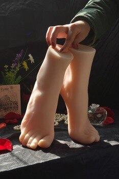 Modelo de zapato de simulación de Pie femenino, modelo humano invertido, medias de seda, hermoso pie médico, pintura de acupuntura K24