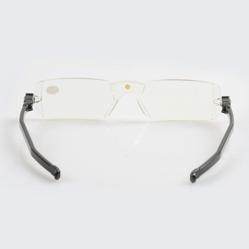 Uomo donna rotazione a 360 gradi pieghevole occhiali da lettura portatili occhiali senza montatura occhiali da vista R120