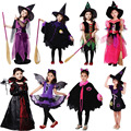 Witch Costume Lovely Vampire Clothing Cosplay Carnival Halloween Costumes for Kids Girls Christmas Birthday Party