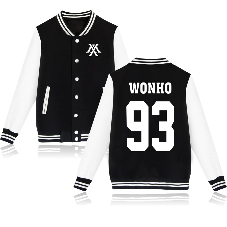 Youpop KPOP Korean Fashion Baseball Jacket Monsta X Sweatshirt Kpop Hoodie Clothing I.M JOOHEON MINHYUK SHOWNU