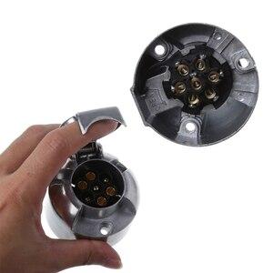 Image 1 - 7 штырьков 12N Электрический буксир, металлический трейлер, караван, автомобильная штепсельная розетка, Towbar Chrome