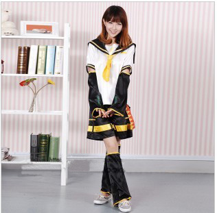 Anime VOCALOID Kagamine Len Cosplay Costume Halloween Costume Mirror Dicotyledons Cosplay Christmas Full Set Free Shipping