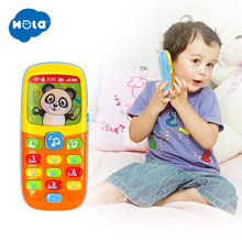 HOLA 956 Baby Toys Cellphone Mobile Phone Early Educational Learning Machine Electric Phone Model Machine Toy for Children(China)