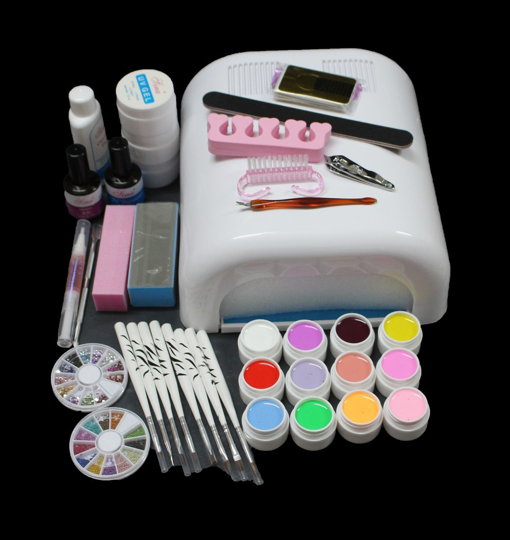 Btt 134 Pro Nail Art Uv Gel Kit Gel Uv Lamp Kit