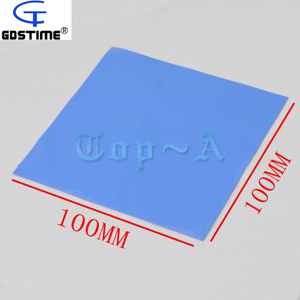 Gdstime 10 Pcs 100mm x 0.5mm Laptop IC CPU Heatsink Cooling Conductive Silicone Pad 100x100x0.5mm Thermal Pad Blue High Quality synthetic graphite cooling film paste 300mm 300mm 0 025mm high thermal conductivity heat sink flat cpu phone led memory router