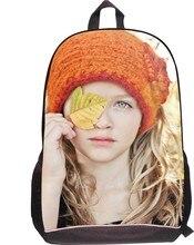 3D girl image School bags for Kids Cartoon Children Schoolbag Casual Student Book Bag for Teenager Boys Mochila Escolar