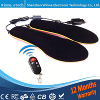 Women And Men Winter Boots Foot Care Remote Control 1800mAh Insoles Heated