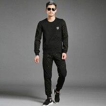 Fashion Spring Autumn Winter Sportswear Recreational Temperament Of High-grade Fashion Men Hoodie Big Size Track Suit Men