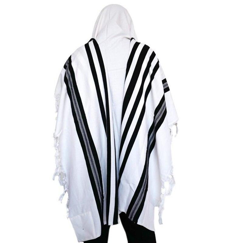 70x50 Inch Israel Wool Tallits Jewish Prayer Scarf 100% Wool Tallit Messianic Jewish