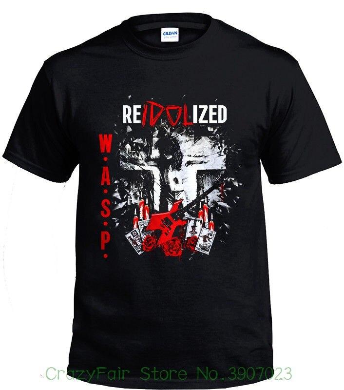 W.a.s.p. Band Heavy Metal Vintage Retro Black Men T-shirt Size S - 2xl Hip-hop Simple Splicing Tee Tops Shirt