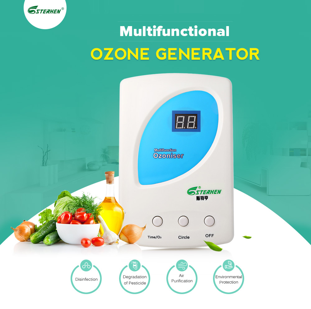 STERHEN Air Purifier Ozone Generator Fruit Vegetables Water Purifier Wardrobe Car O3 Ionizer Disinfect Sterilizer Fresh For Home dc 220v 10g h ozone generator double ceramic plate water air purifier sterilizer for home car ozone generator air sterilizer