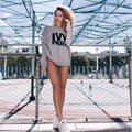 Потяните Femme Harajuku С Капюшоном Сгущает Толстовка Tumblr Женщин Плющом Парк Напечатанная Письмом Балахон Ulzzang 2016 Мода Свободные Пуловеры