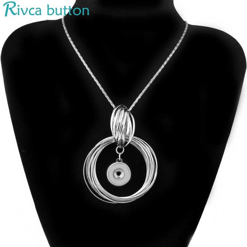 Rivca Snap Button Necklaces & Pendants Jewelry Fishion Angel Wings Antique Silver/Gold Colour Necklaces Women Choker P01037