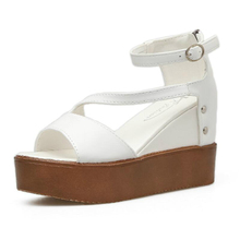 Buy Women Sandals Wedges Platform Flat High Heel Clogs for Women Summer 2018 New Fashion Sexy Mature High Quality Striking directly from merchant!