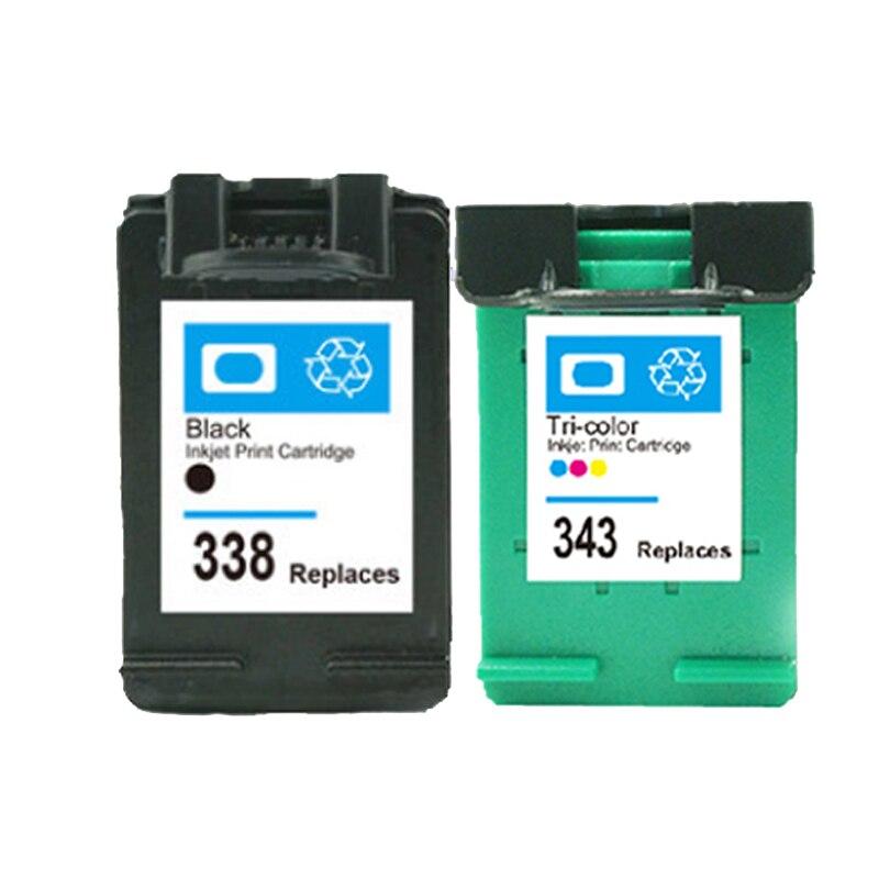 Für hp 338 343 tintenpatrone für hp338 343 deskjet 5740 5745 6520...