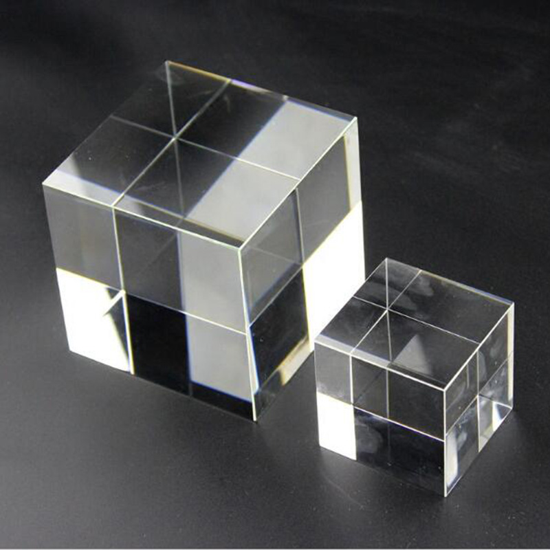 High Quality Transparent Clear Crystal Cube Paperweight DIY Glass Blank for Engraving-in Figurines & Miniatures from Home & Garden