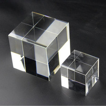 High Quality Transparent Clear Crystal Cube Paperweight DIY Glass Blank for Engraving