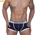 Recién diseño de moda calzoncillos de los hombres gay sexy underwear boxer shorts bragas 160126 envío de la gota rosada héroes
