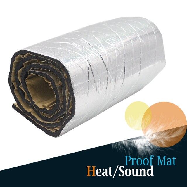 "80 x 100CM 32"" x 40"" Car Aluminum Foil Heat Insulation Sound Proof Mat Deadening Anti Noise For Car Door Trunk Ceiling Cockpit"