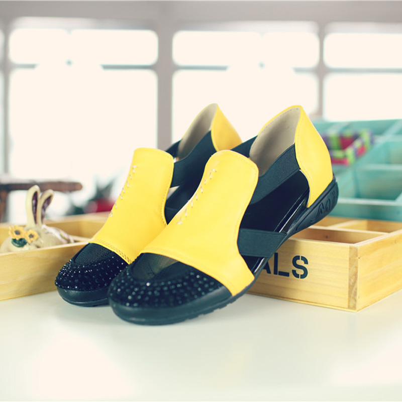 Summer Sandals Women 2018 Lady Yellow Red Shoes Woman Platform Flats Shoes Causal Rhinestone Sandals Roma Female Gladiator Shoes (33)