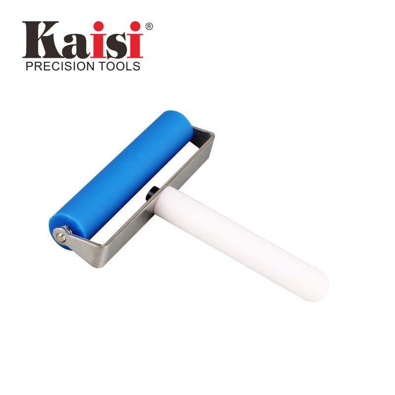 "kaisi 10cm 4"" Silicone Roller Tool Mobile Cell Phone Screen Protector Pasting Roller Wheel LCD OCA Polarizing Tools"