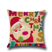 цена на New Christmas Series Linen Pillow Cover for Home Sofa Xmas Decor Merry Christmas Decorations for Home Pillowcase New Year Natal