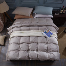 100% white goose down winter blanket duvet quilt comforter twin single queen supper king size 100% cotton cover(China)