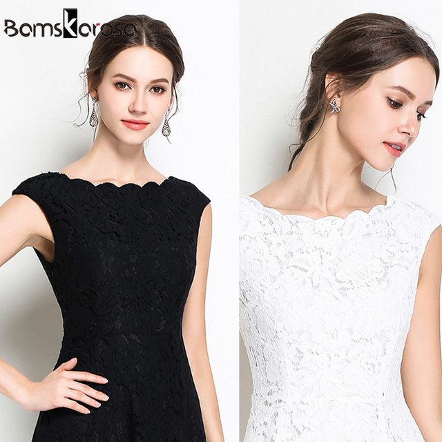 Summer Party Lace Dress Slim Sleeveless Women Floral Crochet Casual White Dresses Vestidos Ball Gown For Bridesmaid Wedding 2