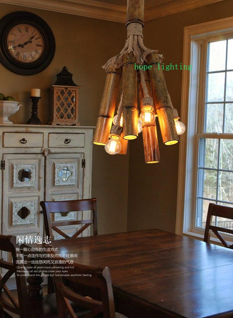 cottage pendant lighting. Edison Bulb Retro Pendant Lamp Bronze Cottage Style Bamboo Cloth Shop Handmade Lights-in Lights From \u0026 Lighting On M