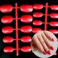 24 шт. (11 размер) овальной Формы Наконечник Pearl Блеск Атласа Красный Карнавал Конфеты Леди Арильного Поддельные Ложные Советы Ногтей Полный Wrap R26-15227X