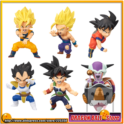 "Dragon Ball Z"" Original BANPRESTO WCF BATTLE OF SAIYANS Vol.1 Figure - Full Set of 6 Pieces (Goku Vegeta Gohan Freeza Bardock)"