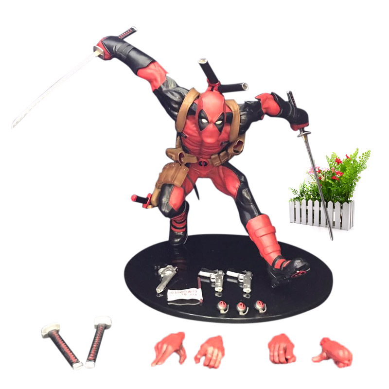 10/'/' X-Men Deadpool Breaking The Fourth Wall Figure Statue PVC Collection Toy