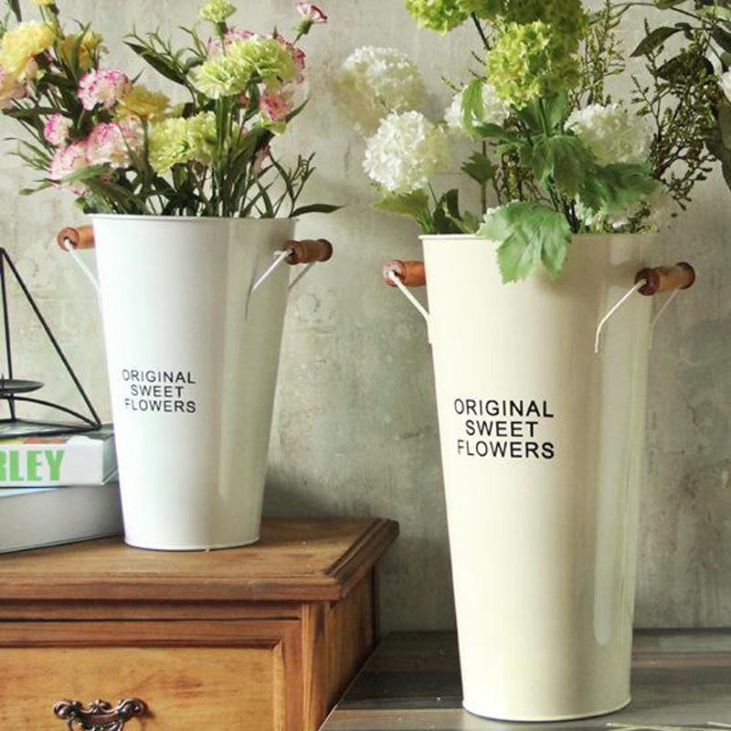 Flowers Vases Nordic Table Metal Vase Plant Dried Floral Holder