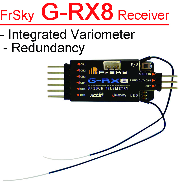 FrSky G RX8 Receiver Designed for Gliders integrated Variometer sensor into RX8R with Redundancy function