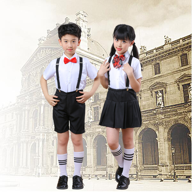 Children's Chorus Performance Boys And Girls Bibs Student Uniforms Children's Wear Uniforms School Uniforms