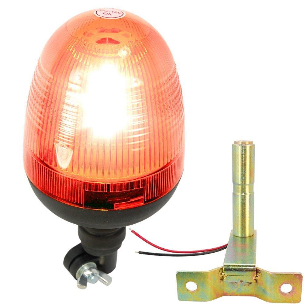 12V 24V Car LED font b light b font Flexible Pipe Mount Profile Amber Beacon Emergency