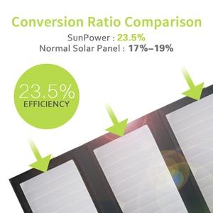 Image 5 - Allforce 5 فولت 21 واط المدمج في 10000 مللي أمبير بطارية محمول شاحن بالطاقة الشمسية للهاتف المحمول