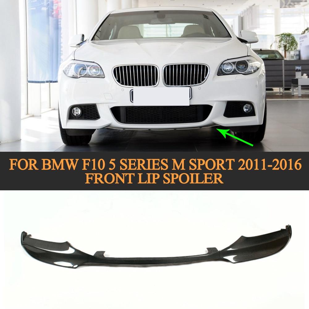 Carbon Fiber Car Front Lip Spoiler For BMW F10 5 Series M Sport 2011 2016 V Style