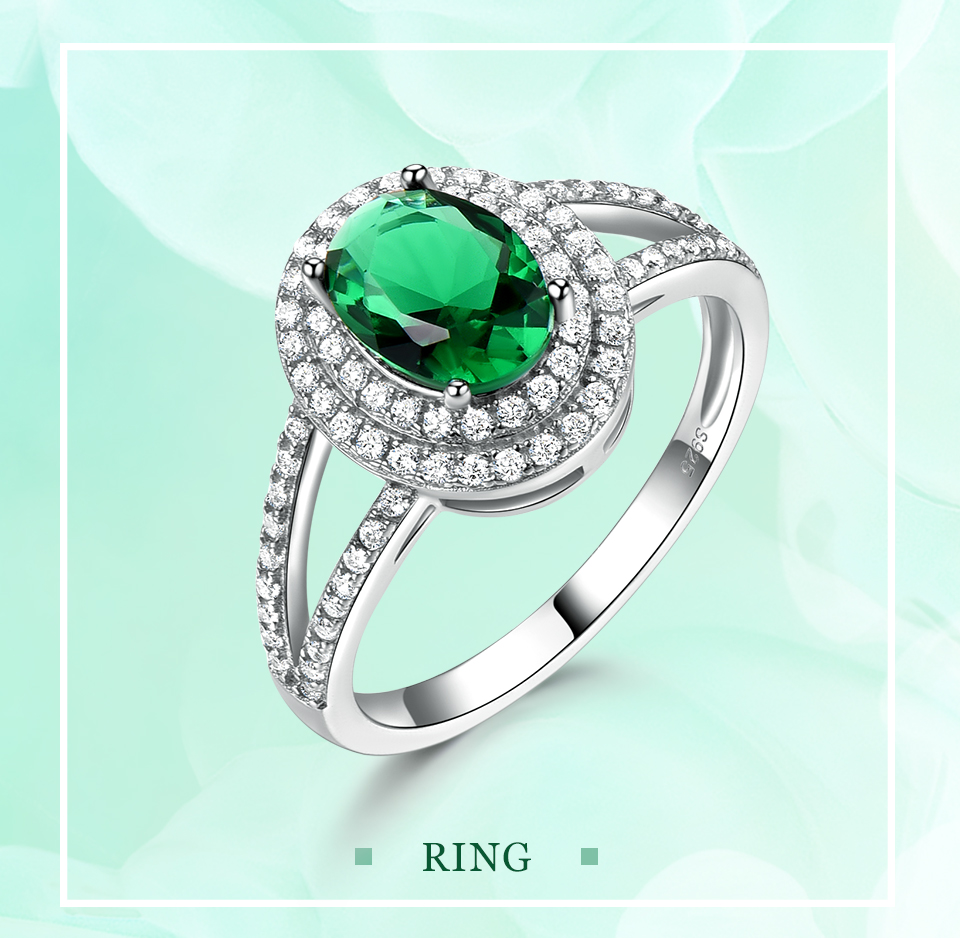 UMCHO-Emerald -sterling-silver-rings-for-women-RUJ097E-1-pc (1)
