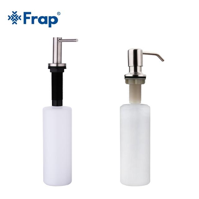 Frap Deck Mounted Hand sanitizer sink Soap Dispenser Stainless Steel Liquid Soap Bottle Kitchen Accessories