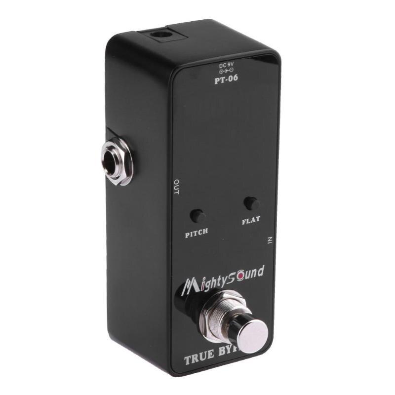 PT-06 Mini Poche Chromatique Tuner B0-B6 Effet Pédale Noir pour Guitare Basse Violon Ukulele Line-in et Micro Détection