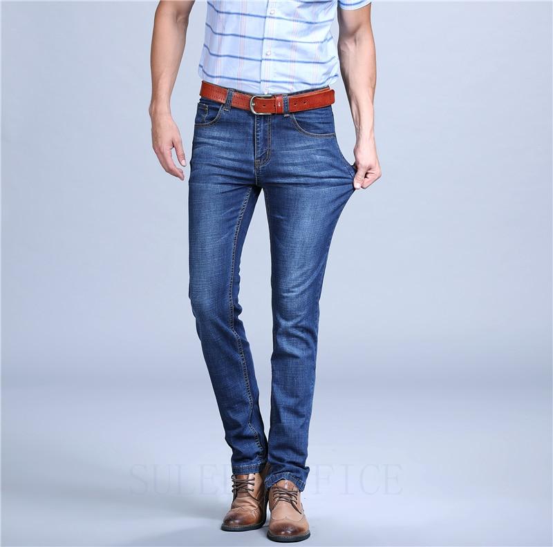 Mens 2018 New Plus Size 28-40 Blue Stretch Slim Fit Jeans Denim Jean Mens Larger Big Man Pants
