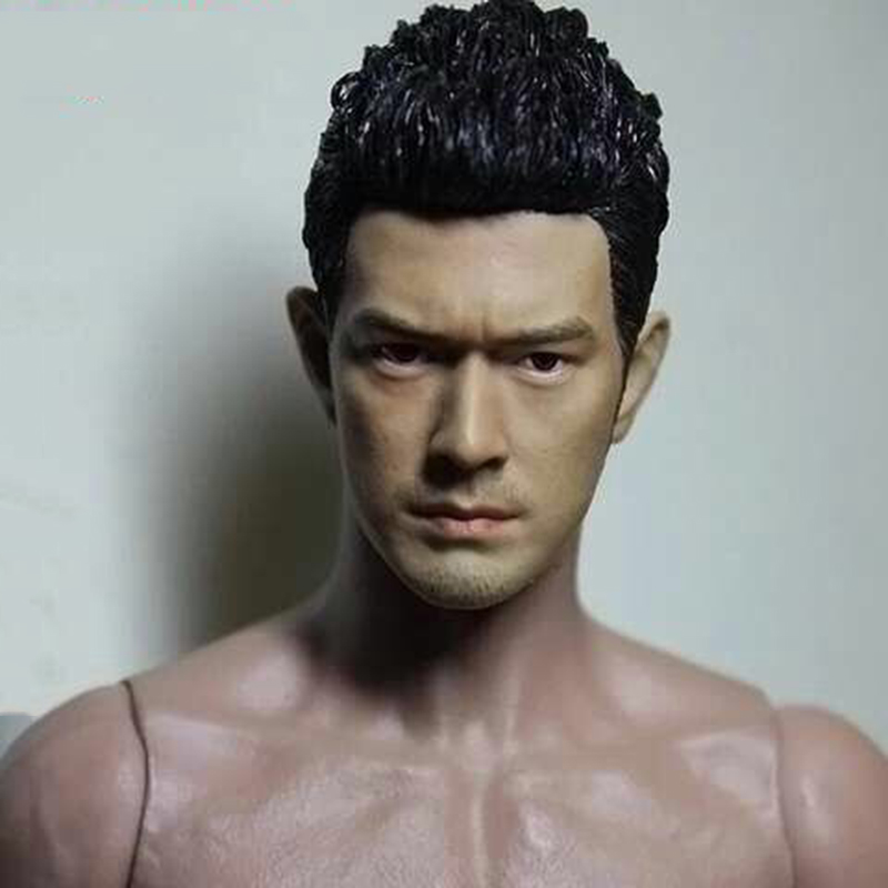 """1//6 Takeshi Kaneshiro Male Head Scupt Asia Male Star Model For 12/"""" Action Figure"""