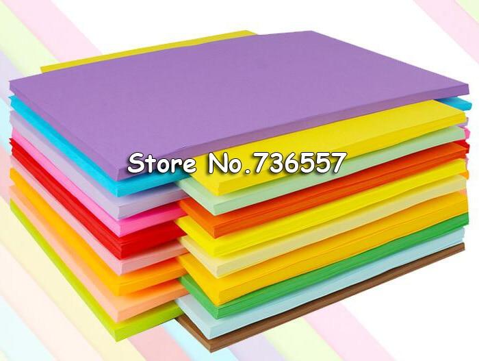 100pcs A4 80g Color Copy Paper Multicolor Available Children Handwork Origami Colored Paper